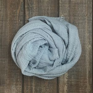 Gray cotton scarf shawl hijab turban wrap NWT
